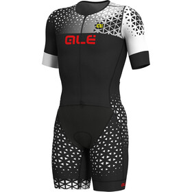 Alé Cycling Rush Tri Unitard Largo Manga Corta Hombre, black-white